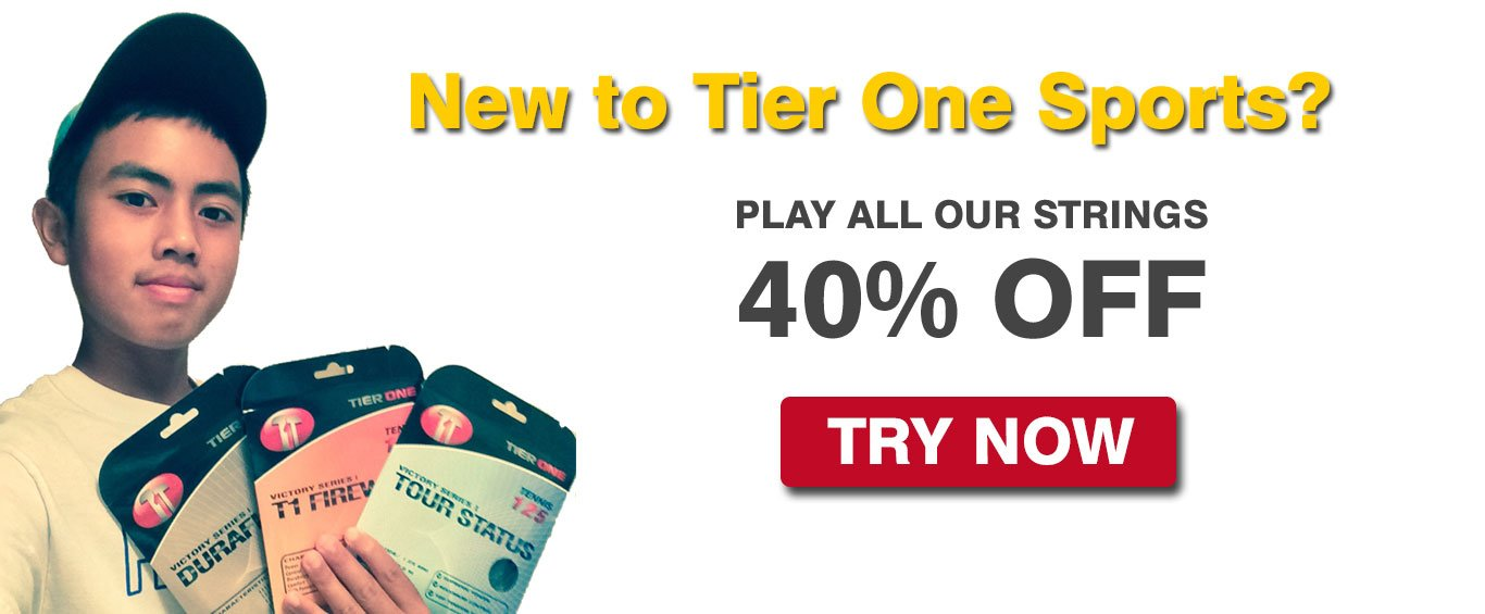 Tier One Sports Introductory Tennis String Deal